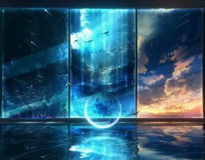 Rating: Safe Score: 58 Tags: animal building city clouds dress fish night original polychromatic scenic sky stars water y_y_(ysk_ygc) User: FormX