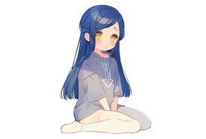 Rating: Safe Score: 82 Tags: blue_hair blush garter_belt honzuki_no_gekokujou loli long_hair myne rinndouk signed stockings white yellow_eyes User: otaku_emmy