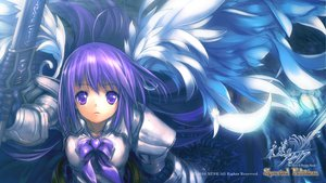 Rating: Safe Score: 34 Tags: armor aselia eien_no_aselia purple_eyes purple_hair sword weapon wings User: w7382001