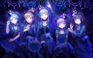 Rating: Safe Score: 12 Tags: bang_dream! breasts cleavage crown hikawa_sayo imai_lisa long_hair minato_yukina shirokane_rinko thighhighs twintails udagawa_ako User: Dreista