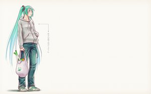 Rating: Safe Score: 57 Tags: aqua_hair hatsune_miku long_hair takouji twintails vocaloid User: SciFi