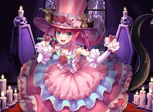 Rating: Safe Score: 38 Tags: aqua_eyes blood dousunnen dress elizabeth_bathory_(fate) fate/grand_order fate_(series) lolita_fashion long_hair pink_hair pointed_ears tail User: Fepple