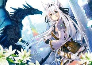 Rating: Safe Score: 207 Tags: animal_ears blush dragon dress long_hair mishima_kurone original scan white_hair User: mattiasc02