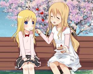 Rating: Questionable Score: 27 Tags: ana_coppola blonde_hair blue_eyes blush cake crossover dress food ichigo_mashimaro k-on! kotobuki_tsumugi long_hair skirt User: gnarf1975