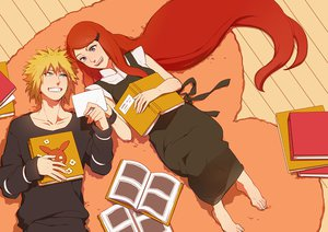 Rating: Safe Score: 70 Tags: blonde_hair blue_eyes i_(kaiyou) namikaze_minato naruto naruto_shippuden red_hair uzumaki_kushina User: STORM