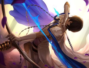 Rating: Safe Score: 50 Tags: all_male arjuna_(fate/grand_order) bow_(weapon) brown_eyes brown_hair cape chain dark_skin elbow_gloves fate/grand_order fate_(series) gloves male petals short_hair signed tenyo0819 weapon User: otaku_emmy