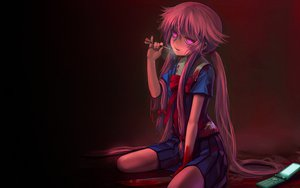 Rating: Questionable Score: 169 Tags: blood gasai_yuno knife long_hair mirai_nikki phone pink_eyes pink_hair seifuku tagme weapon User: miset