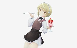 Rating: Safe Score: 30 Tags: aliasing apron blonde_hair cutlass_(girls_und_panzer) food fruit girls_und_panzer gray headdress maid moro_(like_the_gale!) shirt short_hair skirt strawberry waitress yellow_eyes User: otaku_emmy