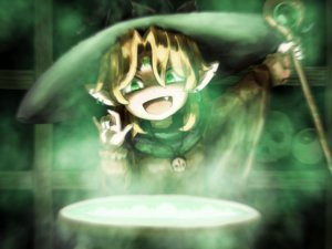 Rating: Safe Score: 13 Tags: blonde_hair fang green green_eyes hat magic mizuhashi_parsee necklace pointed_ears shirosato staff touhou witch_hat User: otaku_emmy