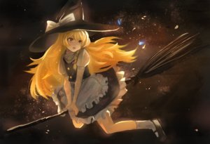 Rating: Safe Score: 32 Tags: apron blonde_hair bow braids dress hat kirisame_marisa long_hair maachi_(fsam4547) touhou witch witch_hat yellow_eyes User: RyuZU