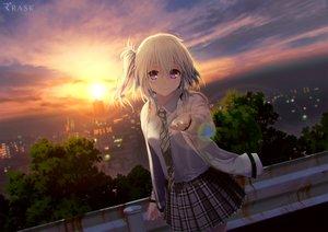Rating: Safe Score: 126 Tags: ai_(re:lief) building city clouds landscape purple_eyes re:lief_~shin'ai_naru_anata_e~ scenic skirt sunset technoheart tie tree waifu2x white_hair User: RyuZU