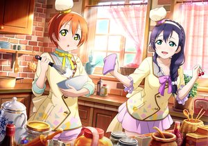 Rating: Safe Score: 41 Tags: 2girls aqua_eyes blue_hair blush bow braids food hoshizora_rin long_hair love_live!_school_idol_project orange_hair short_hair skirt tagme_(artist) toujou_nozomi yellow_eyes User: RyuZU