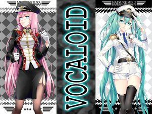 Rating: Safe Score: 115 Tags: blue_eyes blue_hair cocoon hatsune_miku long_hair megurine_luka pink_hair twintails uniform vocaloid User: mihaela94