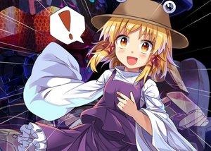 Rating: Safe Score: 17 Tags: blonde_hair e.o. hat moriya_suwako orange_eyes short_hair touhou User: RyuZU