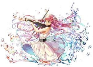 Rating: Safe Score: 80 Tags: aqua_eyes choker dress flowers instrument kim_eb long_hair original pink_hair summer_dress violin water User: luckyluna