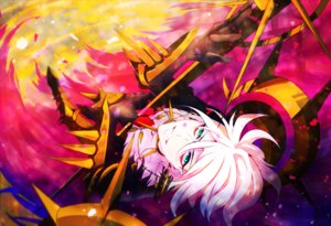 Rating: Safe Score: 10 Tags: all_male fate/apocrypha fate_(series) green_eyes karna ketten male short_hair white_hair User: RyuZU