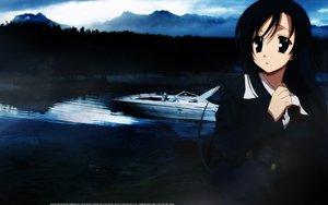 Rating: Safe Score: 9 Tags: black_eyes black_hair boat katsura_kotonoha school_days skirt sky water User: Oyashiro-sama