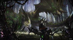Rating: Safe Score: 118 Tags: forest mecha monster_hunter novelance tree User: Flandre93