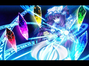 Rating: Safe Score: 32 Tags: hat kiyomin long_hair patchouli_knowledge purple_hair red_eyes ribbons touhou User: Tensa