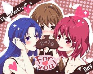 Rating: Safe Score: 33 Tags: aisaka_taiga candy chocolate jpeg_artifacts kawashima_ami kushieda_minori toradora valentine User: rargy