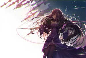 Rating: Safe Score: 83 Tags: aliasing dress fate/grand_order fate_(series) long_hair pantyhose purple_hair red_eyes re:rin scathach_(fate/grand_order) scathach_skadi_(fate/grand_order) wand User: sadodere-chan