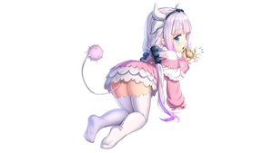 Rating: Questionable Score: 120 Tags: animal aqua_eyes crab drogoth headband horns kamui_kanna kobayashi-san_chi_no_maid_dragon loli long_hair purple_hair tail thighhighs white User: gnarf1975