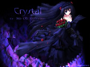 Rating: Safe Score: 38 Tags: black_hair blue_eyes flowers gothic long_hair wedding_attire User: Oyashiro-sama