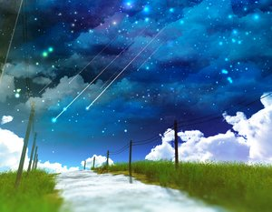 Rating: Safe Score: 71 Tags: 3d clouds grass nobody original scenic sky stars water y-k User: STORM