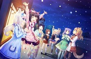 Rating: Safe Score: 43 Tags: animal_ears azuki_(sayori) black_hair blonde_hair blue_eyes brown_eyes brown_hair catgirl chocola_(sayori) cinnamon_(sayori) coconut_(sayori) game_cg green_eyes group japanese_clothes kimono loli long_hair maple_(sayori) minazuki_shigure nekopara neko_works night orange_hair pantyhose purple_eyes purple_hair sayori seifuku short_hair snow tail thighhighs vanilla_(sayori) white_hair yellow_eyes User: SciFi