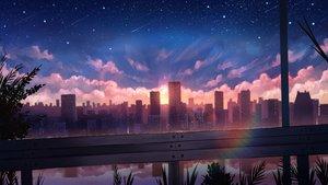 Rating: Safe Score: 75 Tags: building city clouds nobody original pasoputi polychromatic rainbow reflection scenic sky stars sunset water User: mattiasc02
