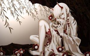 Rating: Safe Score: 141 Tags: demon horns japanese_clothes red_eyes vector white_hair yone_kazuki yukata User: gnarf1975