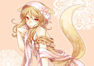 Rating: Safe Score: 114 Tags: animal_ears blonde_hair foxgirl ouka_miko red_eyes tagme tail toudou_charo utau User: opai