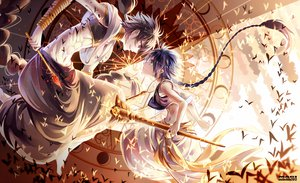 Rating: Safe Score: 97 Tags: aladdin_(magi) all_male barefoot braids butterfly instockee judal long_hair magic magi_the_labyrinth_of_magic male navel necklace ponytail wand watermark User: BoobMaster