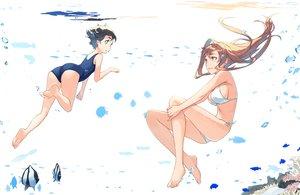 Rating: Safe Score: 42 Tags: 2girls animal barefoot bikini bubbles fish kimura_(ykimu) original school_swimsuit swimsuit underwater water User: FormX