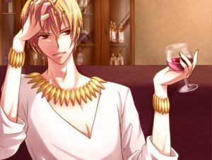 Rating: Safe Score: 17 Tags: blonde_hair fate_(series) fate/stay_night gilgamesh red_eyes short_hair User: Tensa