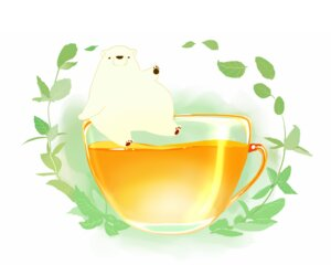 Rating: Safe Score: 9 Tags: animal bear chai_(artist) drink leaves nobody original polychromatic signed white User: otaku_emmy