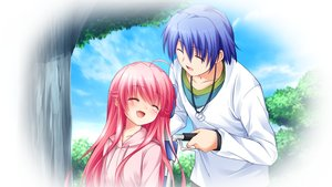 Rating: Safe Score: 54 Tags: angel_beats! game_cg hinata_hideki key male na-ga yui_(angel_beats!) User: Tensa