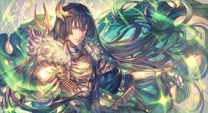 Rating: Safe Score: 25 Tags: all_male armor brown_hair cape chain freyr granblue_fantasy long_hair magic male purple_eyes shigaraki_(strobe_blue) User: otaku_emmy
