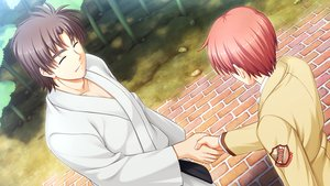 Rating: Safe Score: 18 Tags: all_male angel_beats! game_cg key male matsushita na-ga otonashi_yuzuru User: Tensa