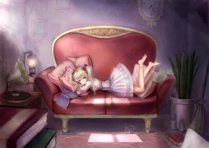 Rating: Safe Score: 136 Tags: barefoot blonde_hair corset couch dress loli lolita_fashion original pointed_ears tagme twintails tyun User: HawthorneKitty