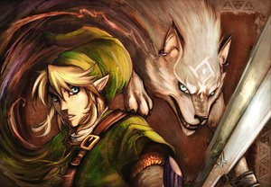 Rating: Safe Score: 76 Tags: blonde_hair link_(zelda) male sword the_legend_of_zelda weapon wolf User: garypan