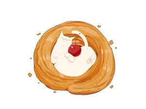 Rating: Safe Score: 13 Tags: animal cat chai_(artist) cherry food fruit nobody original signed white User: otaku_emmy