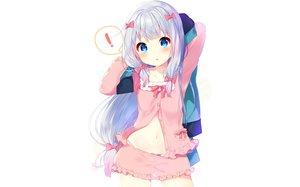 Rating: Safe Score: 236 Tags: blue_eyes blush bow eromanga-sensei gray_hair izumi_sagiri loli long_hair mafuyu_(chibi21) panties shorts underwear white User: RyuZU