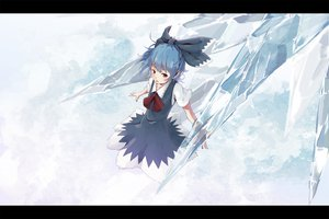Rating: Safe Score: 40 Tags: blue_hair cirno dress hazfirst purple_eyes touhou User: FormX