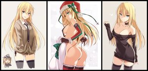 Rating: Questionable Score: 291 Tags: aliasing anthropomorphism aqua_eyes ass bismarck_(kancolle) blonde_hair blue_eyes breasts chibi choker christmas cleavage elbow_gloves gloves hat kantai_collection long_hair oota_yuuichi photoshop santa_hat sideboob skirt thighhighs tie User: mattiasc02
