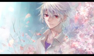 Rating: Safe Score: 25 Tags: cherry_blossoms karimero_(calimer0) nagisa_kaworu neon_genesis_evangelion User: FormX