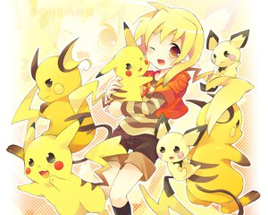 Rating: Safe Score: 103 Tags: pichu pikachu pokemon raichu User: 秀悟