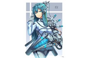 Rating: Safe Score: 32 Tags: aqua_eyes aqua_hair gia gloves long_hair original signed techgirl white User: sadodere-chan