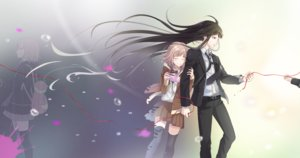Rating: Safe Score: 23 Tags: bekkourico black_hair blush brown_hair dangan-ronpa dangan-ronpa_3 game_console kamukura_izuru kneehighs long_hair male nanami_chiaki red_eyes ribbons seifuku short_hair skirt tears tie User: RyuZU