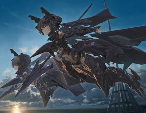 Rating: Safe Score: 66 Tags: 2girls ace_combat ace_combat_7 adf-11f aircraft anthropomorphism clouds red_eyes sky sunset techgirl tom-neko_(zamudo_akiyuki) weapon User: sadodere-chan